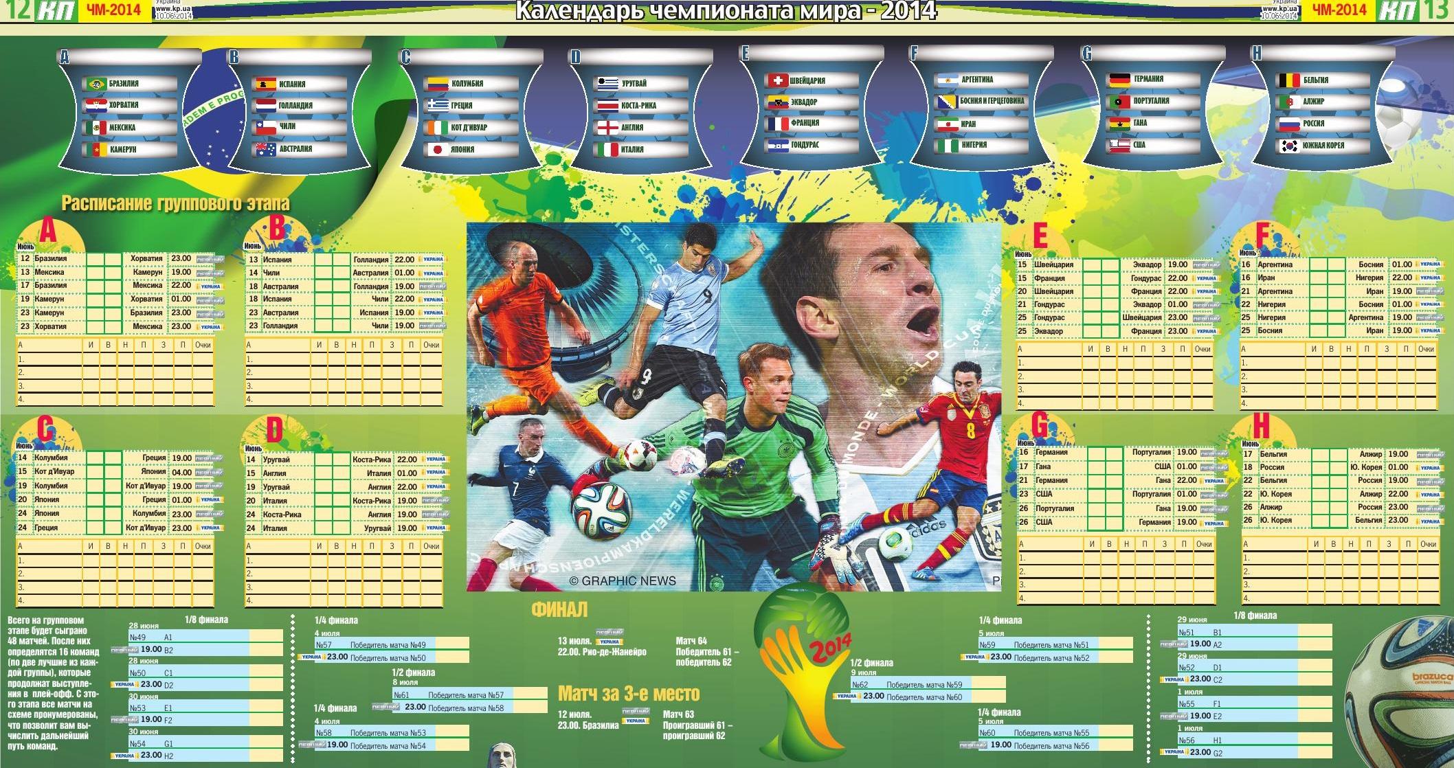 таблица чемпионата календарь