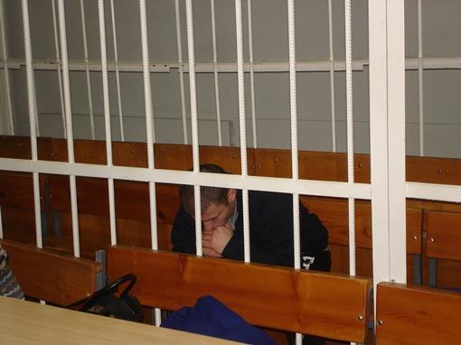 Косинов расплакался, когда узнал что ему накинули три года. Фото Александра ЖУКОВА