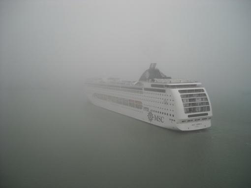В начале ноября судно заводили в условиях сильного тумана. Фото: сайт port.odessa.ua