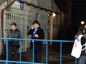 Актера пустили на закрытый матч. Фото из фейсбука Ивана Макарова
