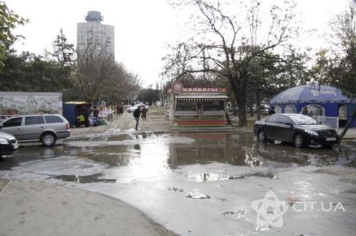 Симферополь утопает в нечистотах. Фото: cit.ua