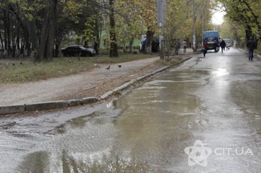 Зловонные реки бегут по центру города. Фото: cit.ua