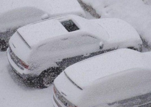 В Москве пошел снег.. Фото: twitter.com/MECTEP