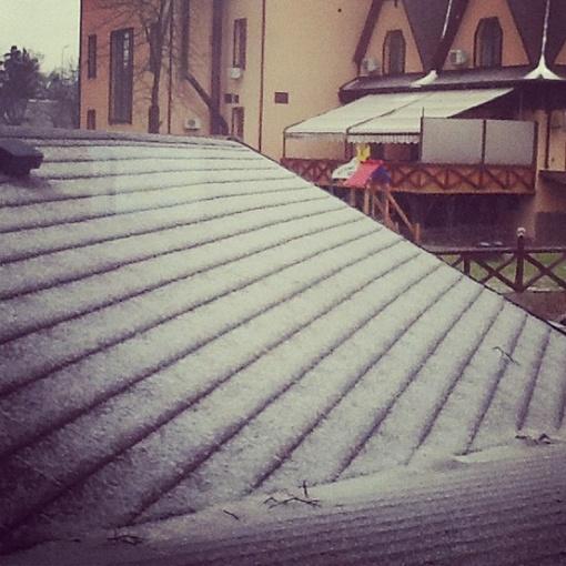 Снег в Киеве. Фото пользователя alevtinakulbaba с сайта instagram.com
