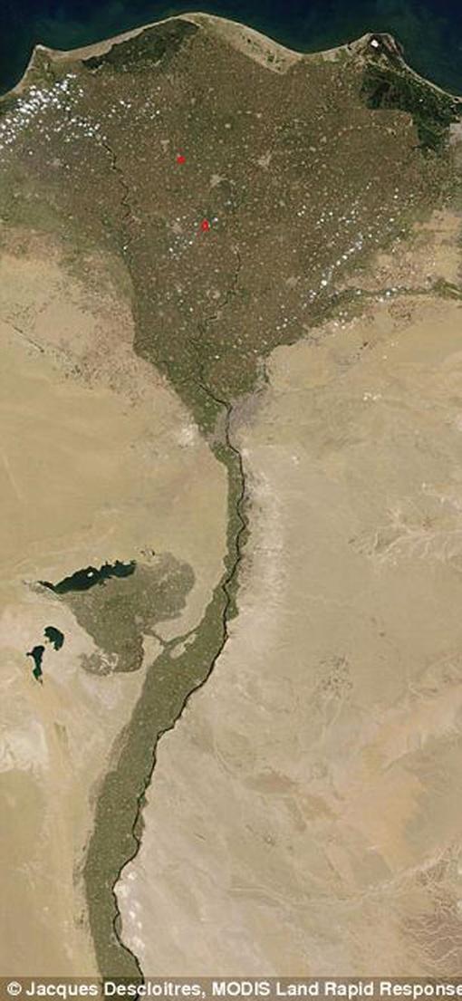 Нил на Земле Фото: НАСА