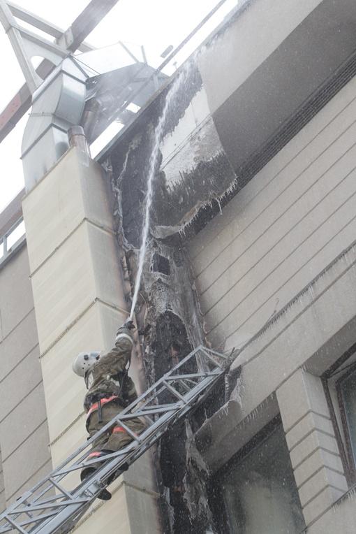 Пожару был присвоен повышенный ранг безопасности.   Фото: Олега Терещенко