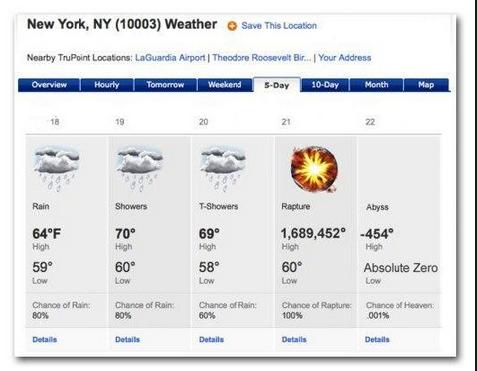 В Нью-Йорке уже ждут... Скриншот с сайта