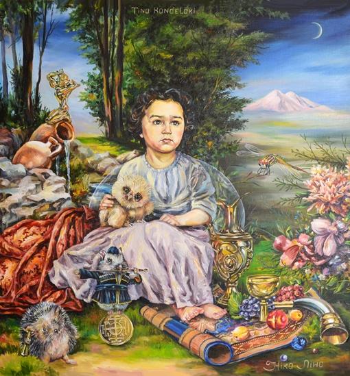 Тина Канделаки держит на руках совенка. Фото: личный архив Николины Бакуменко