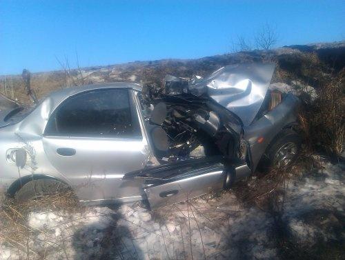 Водитель легковушки погиб на месте ДТП. Фото пресс-службы УГАИ во Львовской области
