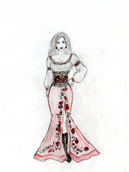 одежды в русском стиле рисунки