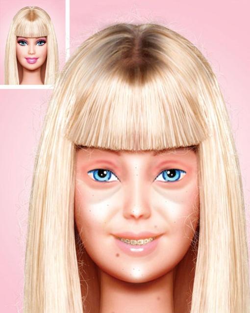 Вот так выглядит Барби без привычного макияжа. Фото: www.behance.net