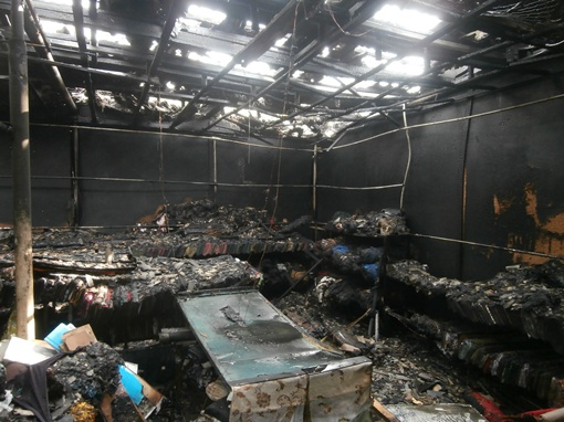 Общая площадь пожара составила 100 квадратных метров. Фото: crimea.mns.gov.ua