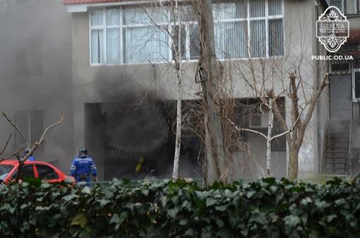 Пожар в Одессе. Фото: