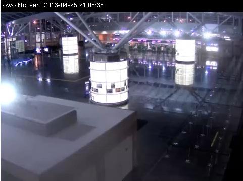 Терминал D пустой. Скриншот с веб-камеры