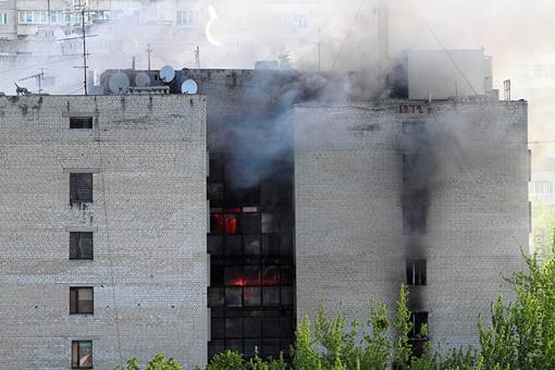 Пожар очень сильный. Фото