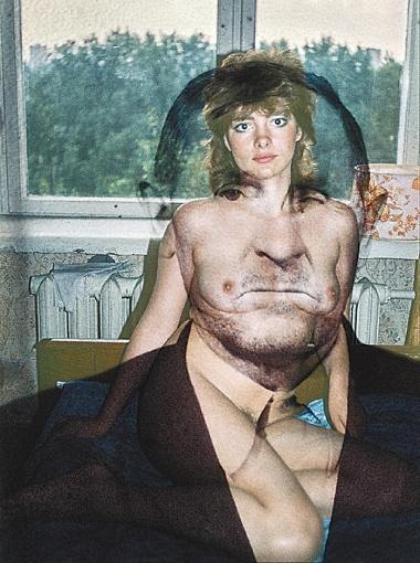 Роман Пятковка наложил старые советские фотографии из журналов на собственные эротические снимки тех времен. И получил за коллажи статуэтку победителя на конкурсе в Лондоне. Фото: Фейсбук Романа Пятковки.