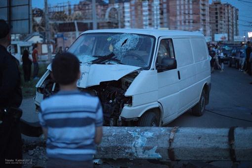 ДТП произошло вчера вечером. Фото: Наталя Каблюк, firtka.if.ua