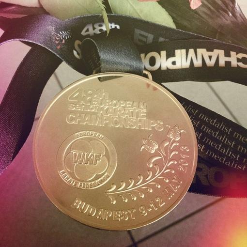Медаль с соревнований. Фото: vk.com