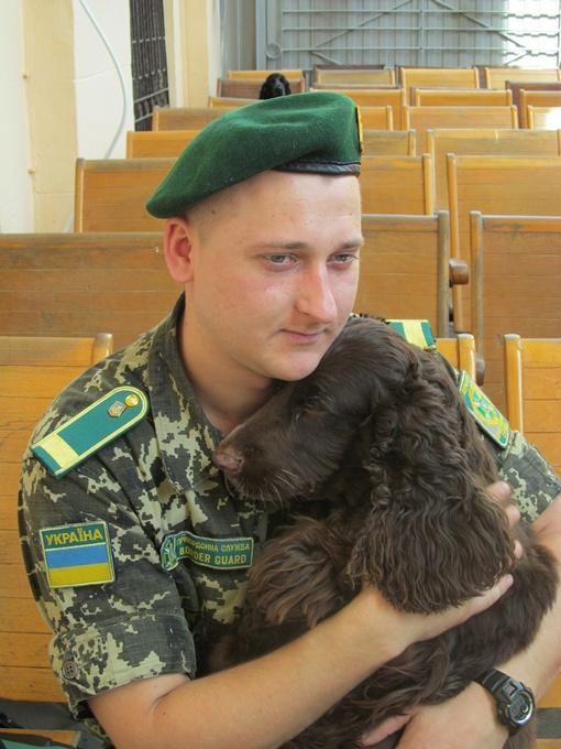 На счету спаниеля сотни задержаний. Фото: автор и пресс-служба Харьквского погранотряда.