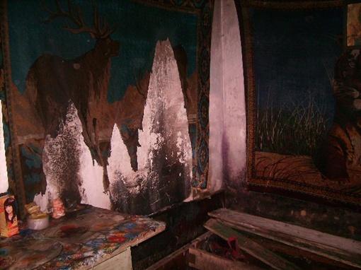 Пожар начался в этой комнате. Фото mns.gov.ua