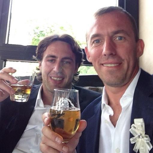 На свадьбу Девич позвал друзей - одноклубников. Фото: Инстаграм Александра Горяинова.