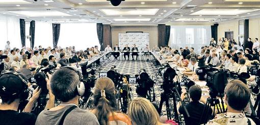 Общественные активисты, бизнесмены и политики обсудили, какие преимущества дает Украине сотрудничество с Таможенным cоюзом. Фото: Константин БУНОВСКИЙ.