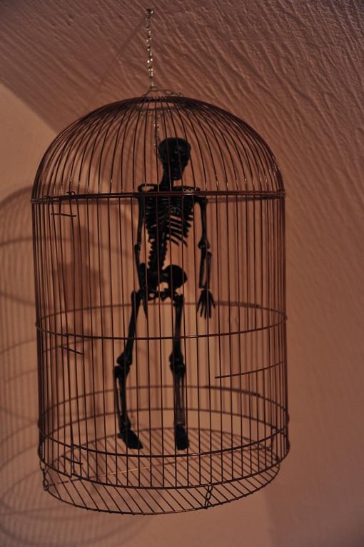 Такими клетками со скелетами пугали контрабандистов в Англии. Фото: Максим Войтенко
