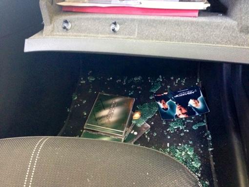 Несколько дисков воры оставили, чтобы