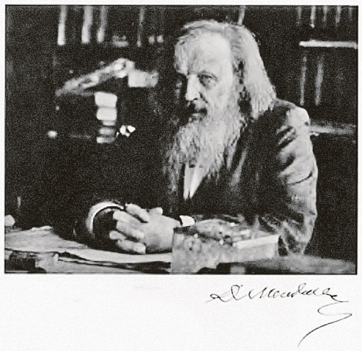 Фото химика Дмитрия Менделеева за 1903 год.
