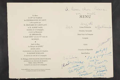 На некоторых экземплярах сохранились подписи известных людей, которые побывали в том или ином ресторане