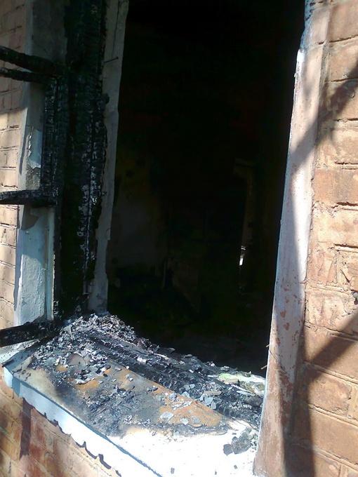 Квартира выгорела дотла.