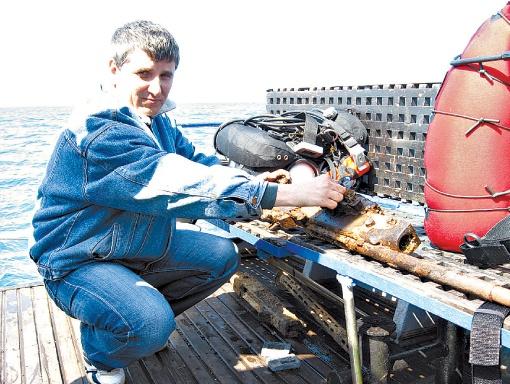 Сергей Воронов руководит Черноморским центром подводных исследований. Фото: архив