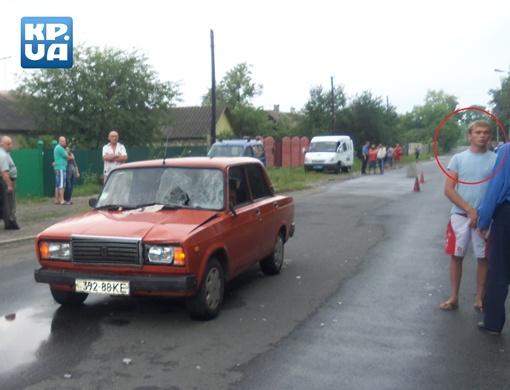 Игорь Павленко не сбегал с места ДТП (на фото справа). Фото предоставлено Анатолием Рудниченко.
