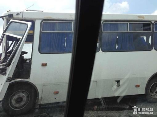 Пострадавший автобус. Фото vgorode.ua