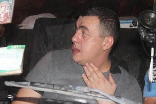 Обнародованы фото пьяного водителя, который в Луганске сбил ребенка на