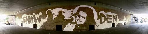Сноуден для харьковского художника - Гамлет современности. Фото: Фейсбук Романа Минина.