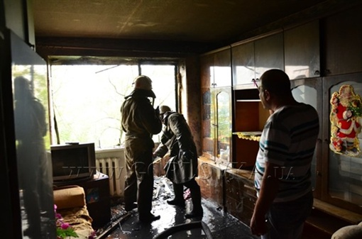 Пострадали в основном балконы. Фото http://gorlovka.ua