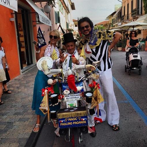 Валерия и Киркоров в Италии не скучают. Фото Twitter Пригожина.
