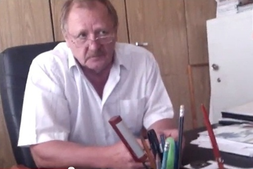 Директор Керченского водоканала Василий Остапенко. Фото: скриншот с видео.