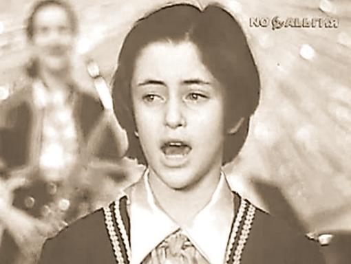 Тамара Гвердцители в детстве была солисткой популярного детского ансамбля