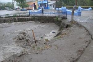 Река вышла из берегов - бурным потоком смыло дамбу. Фото: odesa.mns.gov.ua
