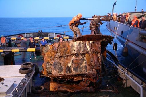 Орудие пролежало на глубине 52 метра почти 70 лет. Фото: Предоставлено Сергеем ВОРОНОВЫМ