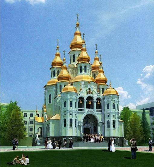 На земле, выделенной горсоветом, до революции тоже была церковь.
