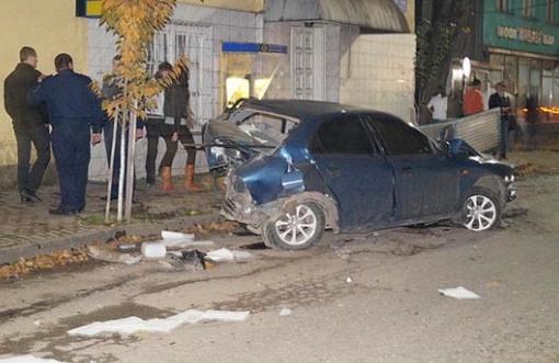 Тройное ДТП на Закарпатье: легковушка сбила две милицейские машины