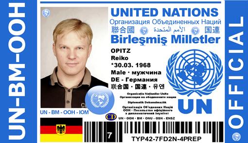 Поддельная ID-карточка дипломата ООН и настоящее удостоверение члена Национального союза журналистов Украины. Фото: из материалов дела.