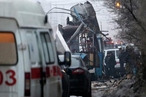 Взрыв в Волгограде прогремел, когда троллейбус отъезжал от остановки. Фото: REUTERS