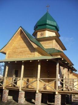 Новый храм построен без единого гвоздя. Фото пресс-службы Донецко-Харьковского экзархата УГКЦ