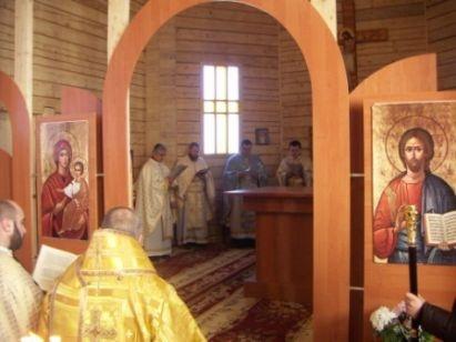 Служба в новой церкви. Фото пресс-службы Донецко-Харьковского экзархата УГКЦ