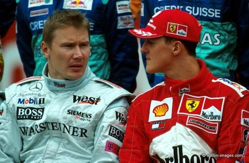На трассе Хаккинен и Шумахер были непримиримыми соперниками. Фото: sutton-images.com