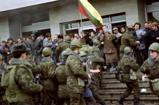 События января 1991 года, Вильнюс. Фото: istpravda.ru